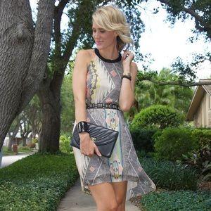 ArykK Southwest Print Halter Dress